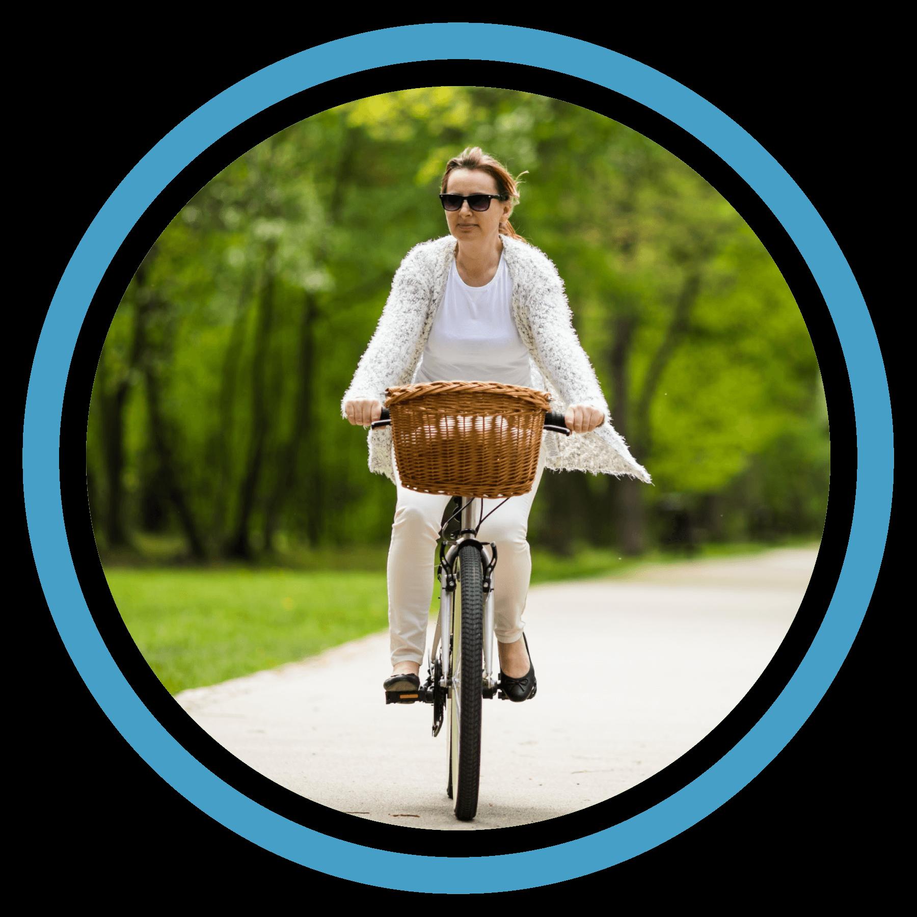 Femme Bicyclette à Sainte-Julie